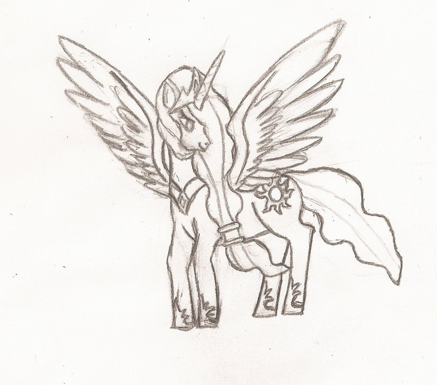 My Little Pony Princess Celestia Coloring Pages Image