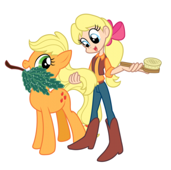 Applejack and Megan