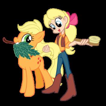 Applejack and Megan