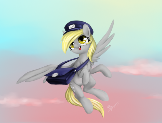 MLP - Speed painting - Derpy Delivery!by ~MadCookiefighter