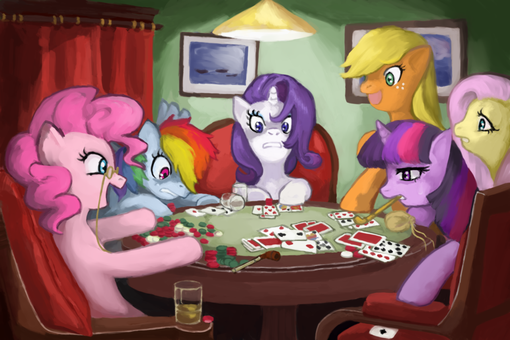 MLP: Ponies Playing Poker by ~Tofucakes