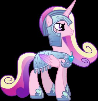 Princess Cadance in Royal Armor by memershnick