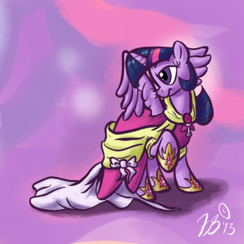 Ponies in Clothes - Twilight by FlavinBagel