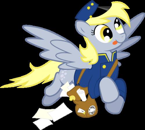 Derpy Mail Pony by ~masemj