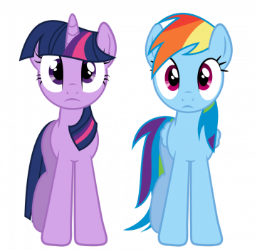 Twilight And Rainbow Dash by Paulie15