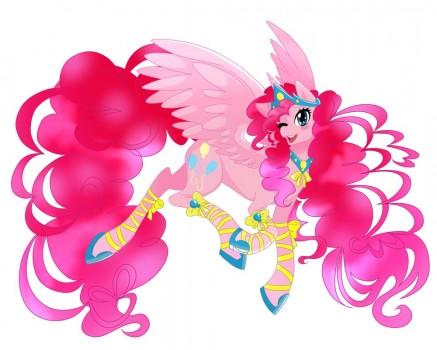 Alicorn Pinkie Pie by linamomoko