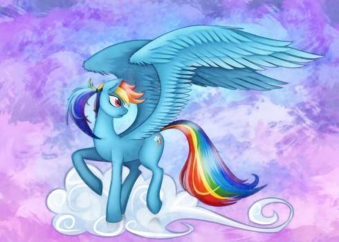 Rainbow Dash by Shaadorian