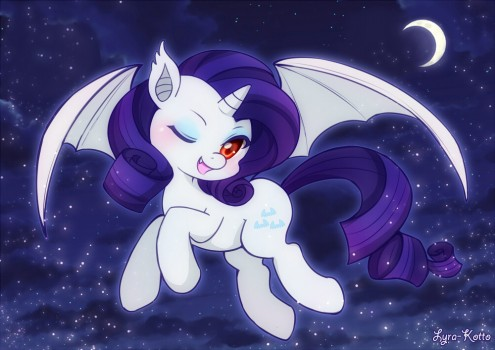 Rarity Bat by Lyra-Kotto