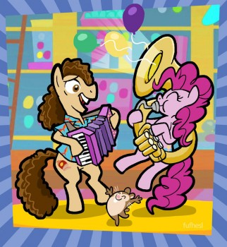 Weird Al and Pinkie by shuffle001
