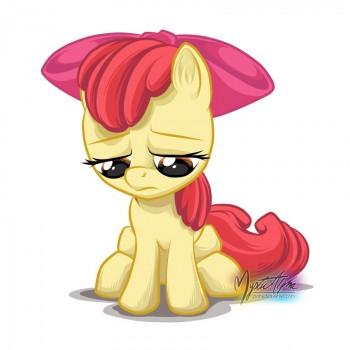 Sad Apple Bloom 2 by mysticalpha