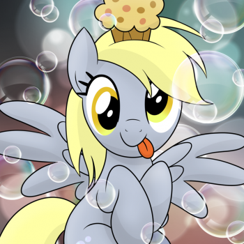 Derpy Bubbles by drawponies