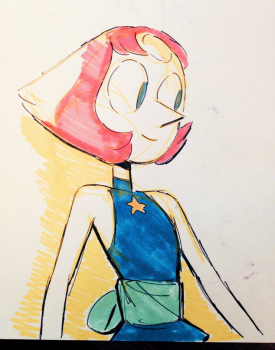 From Storyboard Artist Katie Mitroff: Just realized I can now share some of the New Pearl drawings I've had harbored forever…. Here's one!