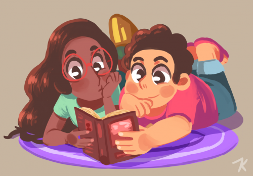 """Reading a book together!"" By Sleepychu"