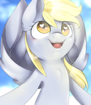 A mare in the sky + Speedpaint by Tartifondue