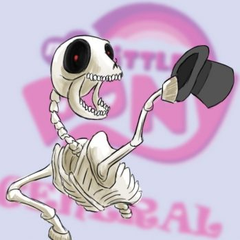 186771__safe_crossover_ponified_4chan_skeleton_artist-colon-shoutingisfun_artist-colon-shout_the+ride+never+ends_mlpg_mr-dot-+bones[1]